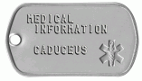 Medical Caduceus Tag