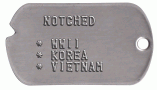 Notched WWII Dog Tag