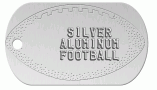 Football Silver Dog Tag