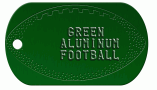Football Green Dog Tag