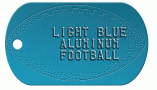 Football Blue Dog Tag