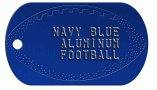 Football Navy Dog Tag