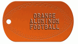 Football Orange Dog Tag