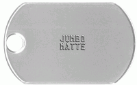 Mega Matte Dog Tag