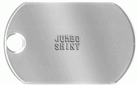 Jumbo Shiny Dog Tag