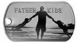 Dad with Kids Dogtag