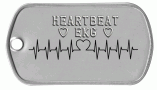 Heartbeat Dog Tag