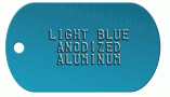 Blue Aluminum Dog Tag