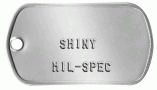 Mil-spec Stainless Steel Shiny Dogtag