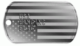 USA Hanging Flag Dog Tag
