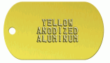Yellow Aluminum Dog Tag