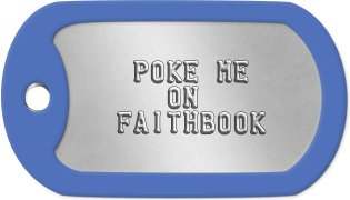 Connected Christian Dog Tags      POKE ME       ON    FAITHBOOK