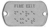 'Fire Exit' Braille Sign Braille Sign - FIRE EXIT ⠋⠊⠗⠑ ⠑⠭⠊⠞