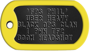 FPS Gamer Dogtags
