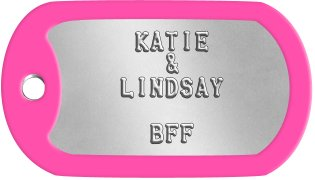 Best Friends Dog Tags      KATIE        &     LINDSAY          BFF