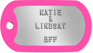 Best Friends Dogtags      KATIE        &     LINDSAY          BFF