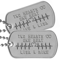 Girlfriend Dogtags - TWO HEARTS ♥♥ ONE BEAT   LISA & MIKE
