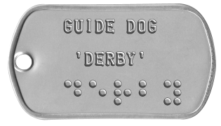 Guide and Service Dog Tags   GUIDE DOG