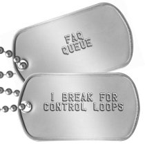 I break for Control Loops Geek Dog Tags -  I BREAK FOR CONTROL LOOPS