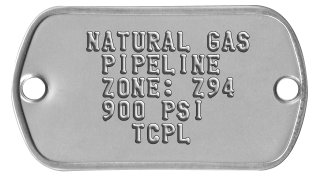 Infrastructure Nameplates   NATURAL GAS    PIPELINE    ZONE: Z94    900 PSI      TCPL