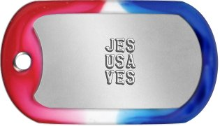 Jesus Saves Dog Tags        JES       USA       VES