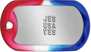 Jesus Saves Dogtags        JES       USA       VES