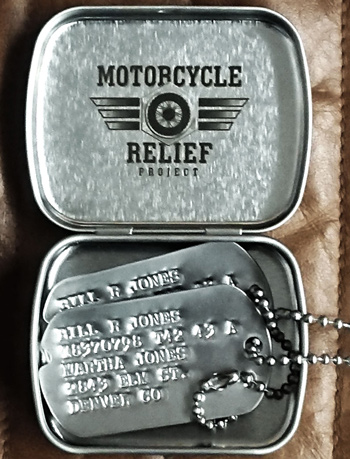 Laser Engraved Tin Box with Dog Tags