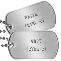 Like Father Like Son Fathers Day Dog Tags -  COPY  (CTRL-C)