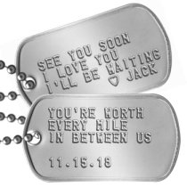 Long Distance Relationship Dog Tags - YOU'RE WORTH EVERY MILE IN BETWEEN US  11.15.18