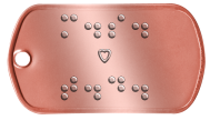 Lovers Initials Braille Statement Dog Tags - ⠍⠲⠎⠲ ♥ ⠞⠲⠙⠲