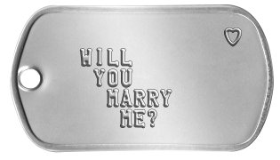 Proposal Dog Tags              ♥   WILL    YOU     MARRY      ME?