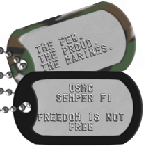 Military Motto Dog Tags