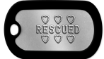 Mini Dogtags - ♥ ♥ ♥ RESCUED ♥ ♥ ♥