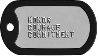 Navy Motto Dog Tags    HONOR   COURAGE   COMMITMENT