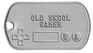 NintenDogtags     OLD SKOOL      GAMER  B