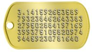 pi Geek Dog Tags - 3.141592653589 793238462643383 279502884197169 399375105820974 94459230781640