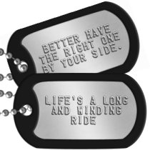 Proposal Dog Tags -  LIFE'S A LONG AND WINDING RIDE