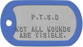 PTSD Dogtags             P.T.S.D         NOT ALL WOUNDS  ARE VISIBLE.