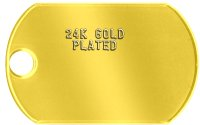 24K Gold Plating of Tag