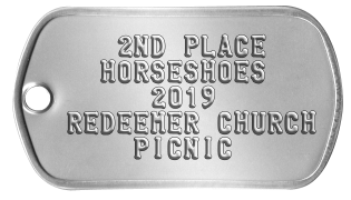 Silver Medal Medallion    2ND PLACE   HORSESHOES      2014 REDEEMER CHURCH     PICNIC