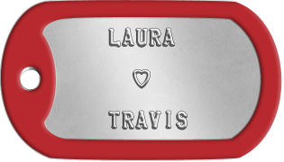 Spouse Dogtags     LAURA                ♥          TRAVIS