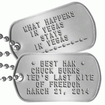 Stag Party Dogtags