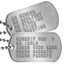 Ten Commandments Dogtags Bible Study Dog Tags - WORSHIP GOD  ✝ NO IDOLS HONOR GODS NAME HONOR SABBATH HONOR PARENTS