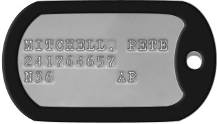 Top Gun Dog Tags KAZANSKY, TOM 'ICEMAN' U.S. NAVY 343 36 8894 USS ENTERPRISE