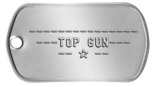Top Gun Dog Tags  ---------------  ---TOP GUN---     -- ★ --