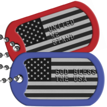 USA Flag USA Patriotic Dogtags -  GOD BLESS THE USA