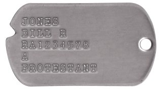 Army Dog Tags 1954-1967 (Vietnam War Era) JONES BILL R RA1234578 A PROTESTANT
