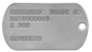 Vietnam 1965-67 Dog Tags JONES BILL R RA1234578 A POS PROTESTANT