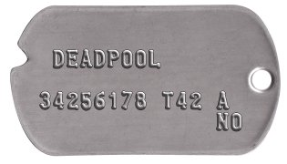 Wade Wilson Classic Dog Tag Set   DEADPOOL  34256178 T42 A              NO