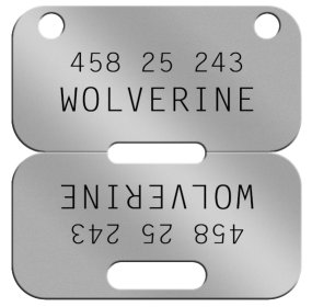 Wolverine Canadian Dog Tag  WOLVERINE  45825243 T78 A